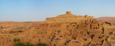 Ait Ben Haddou medeltida Kasbah i Marocko Arkivfoto