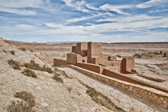 Ait Ben Haddou at Morocco. General view of ancient Ait Ben Haddou fortified village at Morocco stock photos