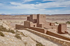 Ait Ben Haddou at Morocco. General view of ancient Ait Ben Haddou fortified village at Morocco stock images