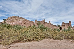 Ait Ben Haddou at Morocco. General view of ancient Ait Ben Haddou fortified village at Morocco royalty free stock photo