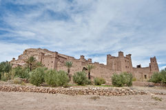 Ait Ben Haddou at Morocco. General view of ancient Ait Ben Haddou fortified village at Morocco royalty free stock photography