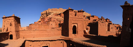 Ait Ben Haddou at Morocco. Aït Benhaddou is a 'fortified city', or ksar, along the former caravan route between the Sahara and Marrakech. It is situated in Stock Photos