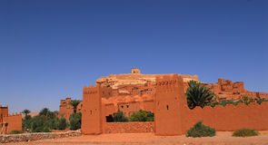 Ait Ben Haddou at Morocco. Aït Benhaddou is a 'fortified city', or ksar, along the former caravan route between the Sahara and Marrakech. It is situated in royalty free stock photos