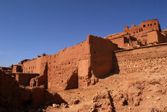 Ait Ben Haddou at Morocco. Aït Benhaddou is a 'fortified city', or ksar, along the former caravan route between the Sahara and Marrakech. It is situated in stock photography