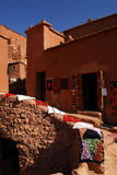 Ait Ben Haddou at Morocco. Aït Benhaddou is a 'fortified city', or ksar, along the former caravan route between the Sahara and Marrakech. It is situated in royalty free stock photography
