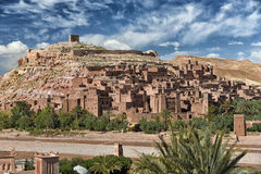 Ait Ben Haddou, Morocco. Aerial view of Ait-Ben-Haddou which is the most famous ksar in the Ounila Valley, Morocco Royalty Free Stock Image