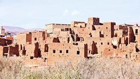 Ait ben Haddou nära Ouarzazate Marocko Arkivbild