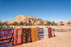 Ait Ben Haddou in Ouarzazate, Morocco. Kasbah Ait Ben Haddou in Ouarzazate, Morocco Royalty Free Stock Photo