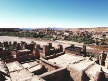 Ait ben haddou. Paradise village morocco royalty free stock photo