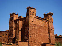 Ait-Ben-Haddou towers. Towers in Aït Benhaddou ksar, along the former caravan route between the Sahara and Marrakech (Morocco Royalty Free Stock Photography