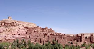 Ait Ben Haddou - traditionell pre-Sahara- livsmiljö Arkivfoto
