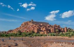 Ait Benhaddou,传统巴巴里人kasbah,摩洛哥 免版税图库摄影