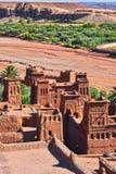 Ait Benhaddou,古老设防,在市Warzazat附近 免版税库存图片