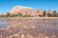 Ait Benhaddou,摩洛哥Kasbah 免版税库存图片