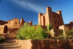 Ait Benhaddou, Souss马萨Drâa,摩洛哥 图库摄影