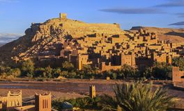 Ait Benhaddou światowego dziedzictwa miejsce w Maroko fotografia stock