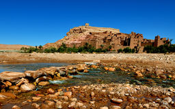 Ait Benhaddou. View of the kasbah (fort) Ait Benhaddou, Morocco Royalty Free Stock Images
