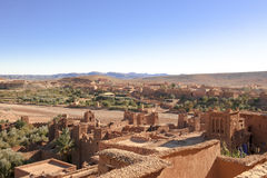 ait benhaddou berber kasbah maroccan Obrazy Royalty Free