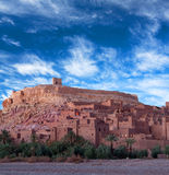 Ait Benhaddou Casbah i Marocko Royaltyfri Fotografi