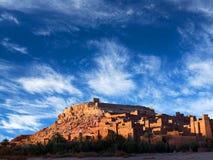 Ait Benhaddou Casbah in Marokko Stockbilder