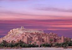 Ait Benhaddou Casbah perto da cidade de Ouarzazate em Marrocos Fotografia de Stock