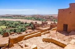 Ait Benhaddou, cidade fortificada, kasbah ou ksar em Ouarzazate, Marrocos Fotografia de Stock Royalty Free