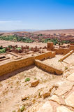 Ait Benhaddou, cidade fortificada, kasbah ou ksar em Ouarzazate, Marrocos Imagem de Stock
