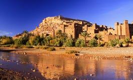 Ait Benhaddou Citadel Unesco World-Erfenisplaats stock foto's