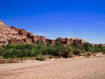 Ait Benhaddou fästning i Marocko Arkivfoton