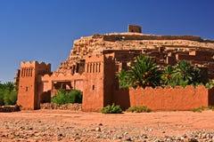 Ait Benhaddou, fortificação antiga, perto da cidade de Warzazat Imagens de Stock Royalty Free