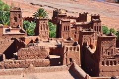 Ait Benhaddou, fortificação antiga, perto da cidade de Warzazat Fotografia de Stock