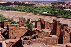 Ait Benhaddou, fortificação antiga, perto da cidade de Warzazat Imagem de Stock