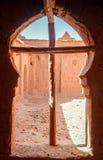 Ait Benhaddou Kasbah da opinião de assoalhos superiores, Marrocos Imagem de Stock Royalty Free