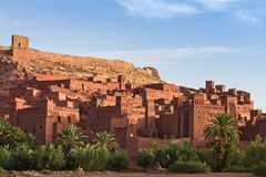 Ait Benhaddou Kasbah in morning, Morocco. Royalty Free Stock Photos