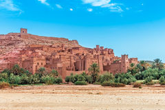 Ait Benhaddou Kasbah in morning, Morocco. Royalty Free Stock Photography