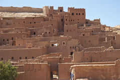 Ait-Benhaddou Kasbah (Morocco). Kasbah Ait-Benhaddou in Morocco. It was used as a setting for many famous movies such as Lawrence of Arabia, Gladiator, Jesus of Royalty Free Stock Photography