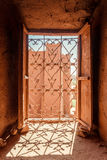 Ait Benhaddou Kasbah from the upper floors view, Morocco. Stock Photography