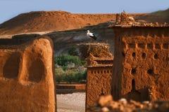 Ait Benhaddou Ksar Kasbah, Марокко Стоковая Фотография