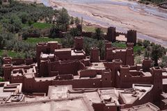 Ait Benhaddou ksar, with kasbah royalty free stock image