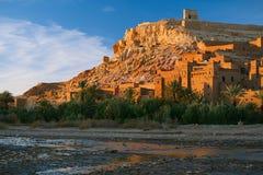 Ait Benhaddou Ksar Kasbah Marocko, Afrika Arkivbilder