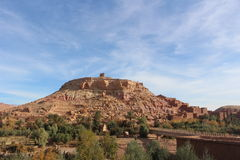 Ait Benhaddou,  Morocca Africa. Ait Benhaddou is a fortified city, or palace (ksar), along the former caravan route between the Sahara and Marrakech in present Stock Photos