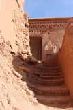 Ait Benhaddou,  Morocca Africa. Ait Benhaddou is a fortified city, or palace (ksar), along the former caravan route between the Sahara and Marrakech in present Royalty Free Stock Images