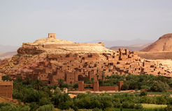 Ait Benhaddou, moroccan ancient fortress Royalty Free Stock Photos