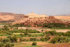 Ait Benhaddou, moroccan ancient fortress Royalty Free Stock Photography