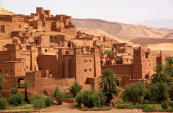 Ait Benhaddou, moroccan ancient fortress Royalty Free Stock Photo
