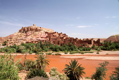 Ait Benhaddou, moroccan ancient fortress Royalty Free Stock Images