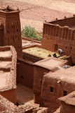 Among the Ait Benhaddou, moroccan ancient fortress Royalty Free Stock Photo