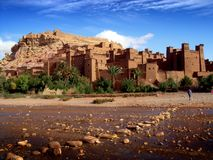 Ait Benhaddou in Morocco Royalty Free Stock Photography
