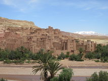 Ait benhaddou Morocco North Africa. Fortified city and example of earthen clay architecture Stock Photos