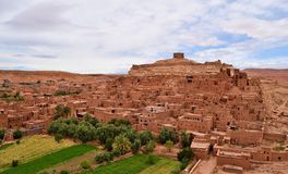 `Ait Benhaddou` is one of Morocco's UNESCO world heritage sites. royalty free stock photos